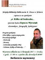 Spotkanie z Szymonem Wyrostkiem w Miejskiej Bibliotece Publicznej w Mławie