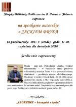 Spotkanie autorskie z Jackiem Brydą w Miejskiej Bibliotece Publicznej w Mławie