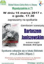 Spotkanie z Bartoszem Janiszewskim w Bibliotece Publicznej w Dzielnicy Włochy
