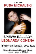 Koncert Kuby Michalskiego w Miejskiej Bibliotece Publicznej w Mławie