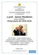 Spotkanie z profesorem Janem Miodkiem w Miejskiej Bibliotece Publicznej w Radomiu