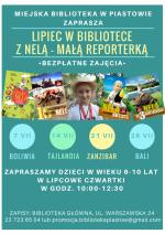 Wakacje z Nelą-Małą Reporterką w Miejskiej Bibliotece Publicznej w Piastowie