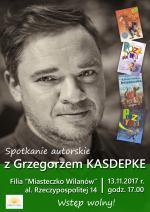 Spotkanie z Grzegorzem Kasdepke w Bibliotece Publicznej w Dzielnicy Wilanów