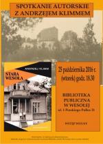 Spotkanie z Andrzejem Klimmem w Bibliotece Publicznej w Dzielnicy Wesoła