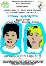 Zabawy logopedyczne w Bibliotece Publicznej w Dzielnicy Włochy