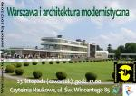 Warszawa i architektura modernistyczna – prelekcja w Bibliotece Publicznej w Dzielnicy Targówek