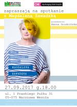 Spotkanie z Magdaleną Zawadzką w Bibliotece Publicznej w Dzielnicy Wesoła
