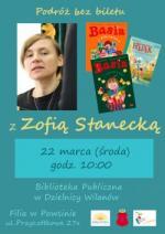 Spotkanie z Zofią Stanecką w Bibliotece Publicznej w Dzielnicy Wilanów