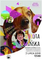 Dorota Sumińska w Miejskiej Bibliotece Publicznej w Mińsku Mazowieckim