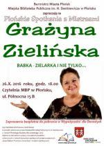 Spotkanie z Grażyną Zielińską w Miejskiej Bibliotece Publicznej w Płońsku