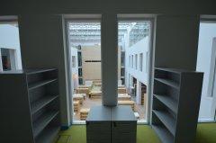 Widok z okna wewnętrznego, pracownia Czytelni Varsavianów